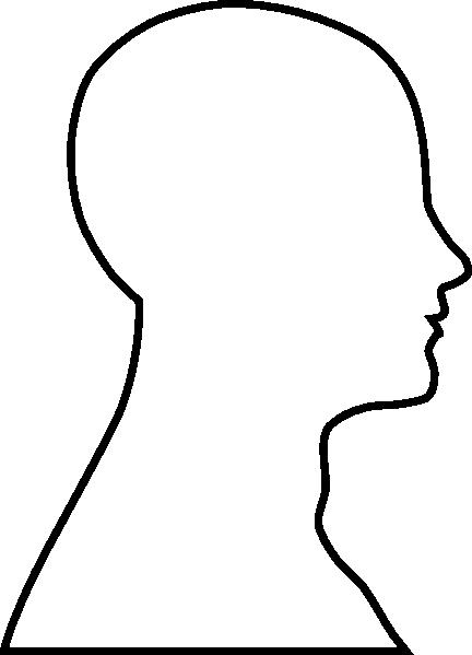 432x599 Head Outline Clip Art
