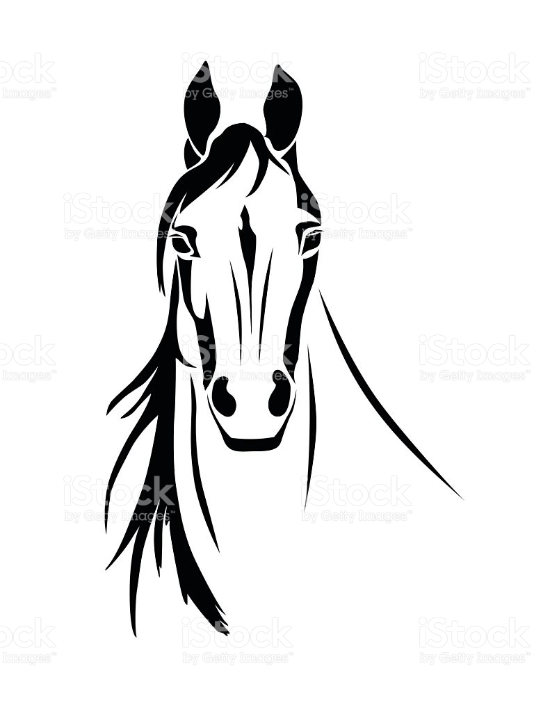768x1024 Horse Head Outline Clipart