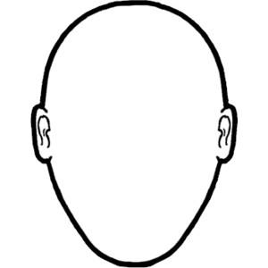 300x300 Human Face Outline Clip Art
