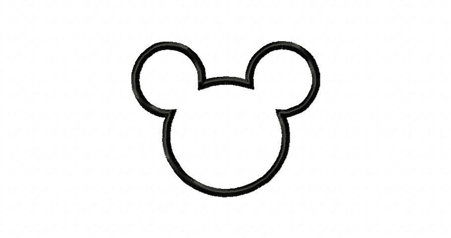 910x480 Mickey mouse head outline of mickey mouse free download clip art