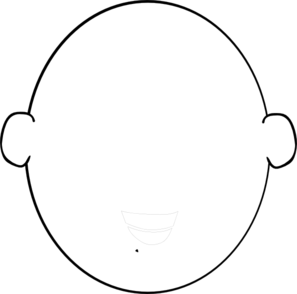 297x294 White Head Outline Clip Art