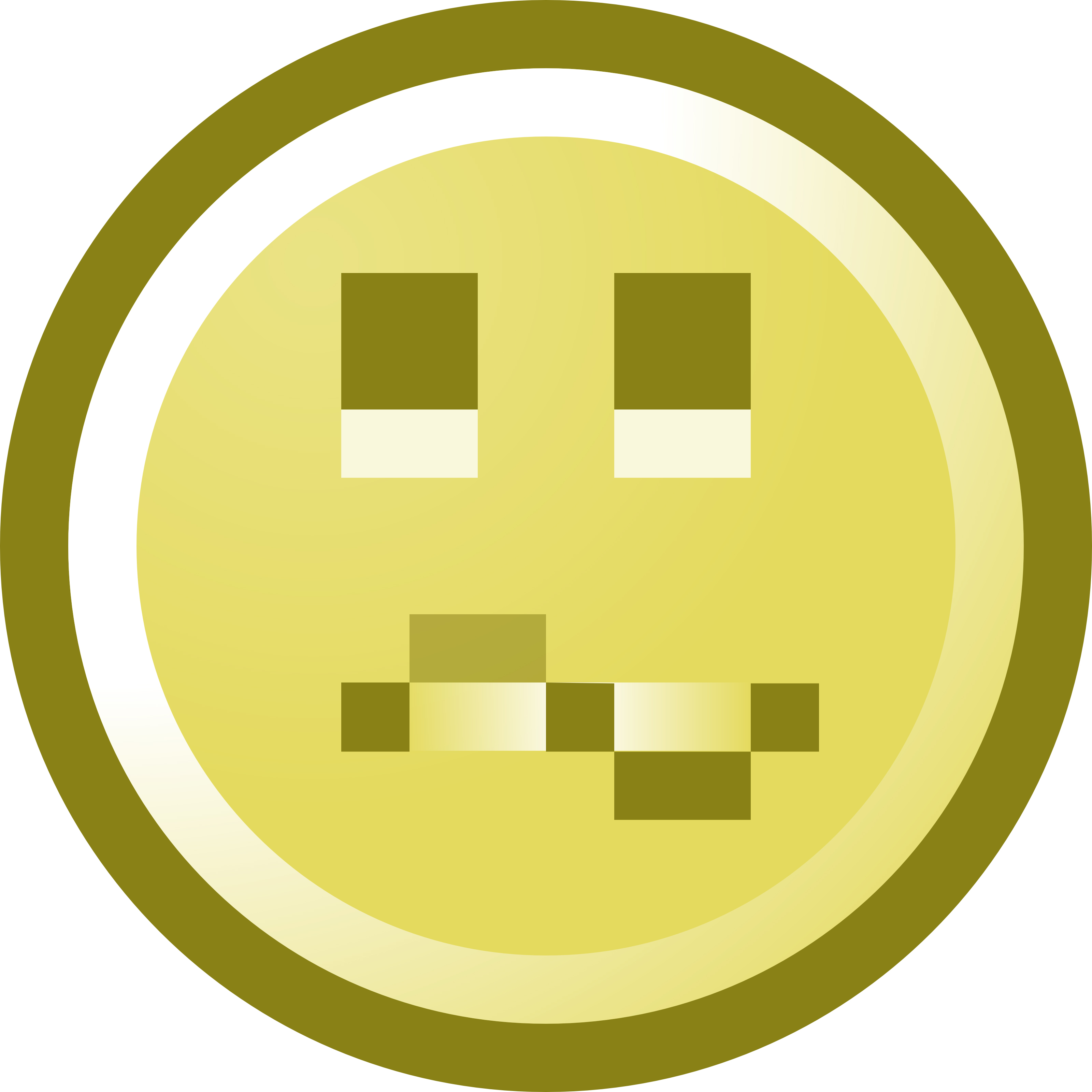 3200x3200 Confused Smiley Face Clip Art Illustration