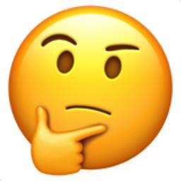 256x256 Thinking Face Emoji U 1f914