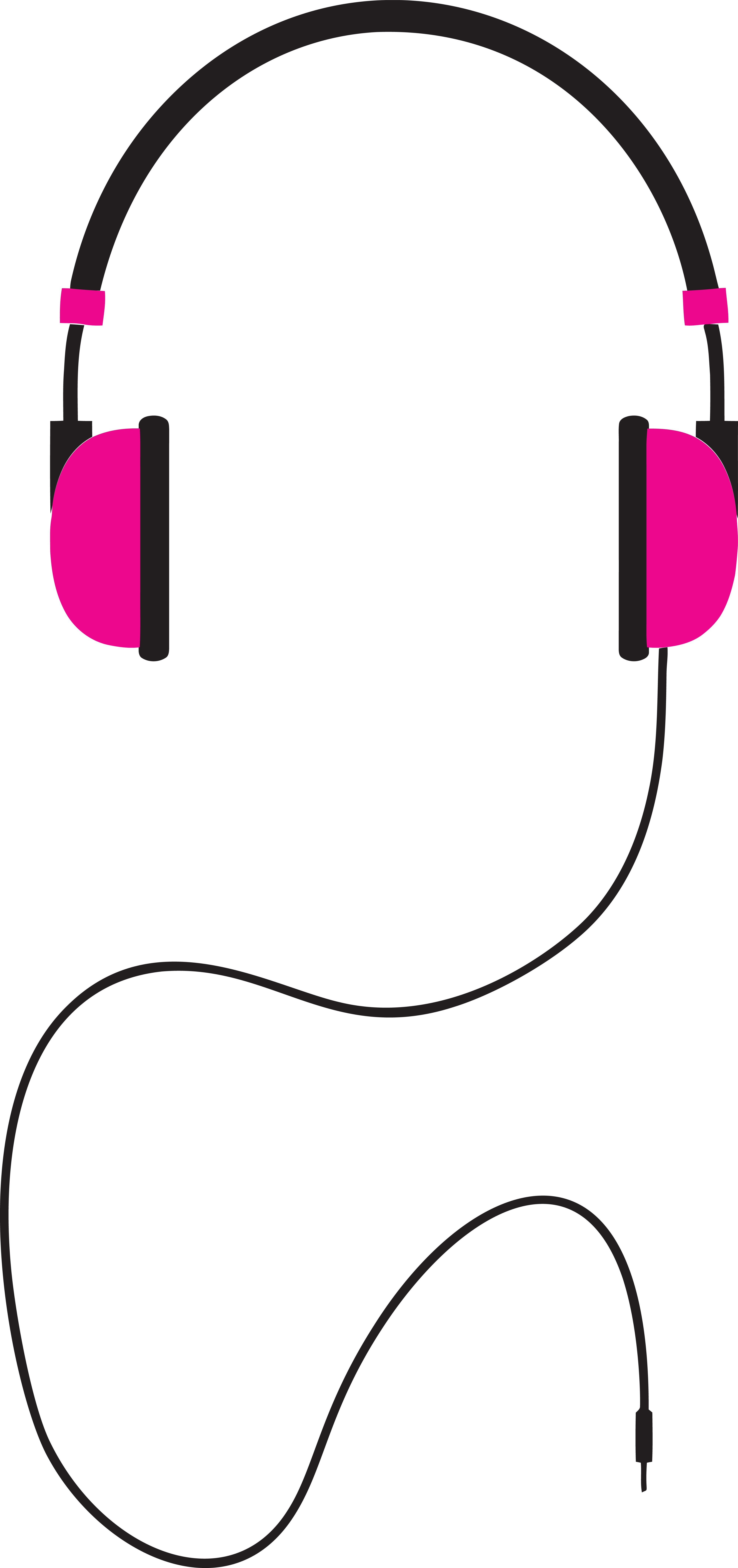 4000x8495 Free Clipart Of A Pair Of Pink Headphones
