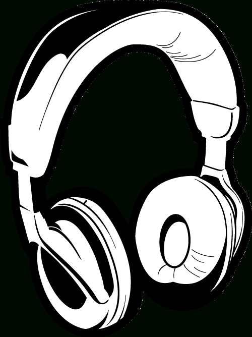 500x668 Headphones Clipart Black And White Letters Example