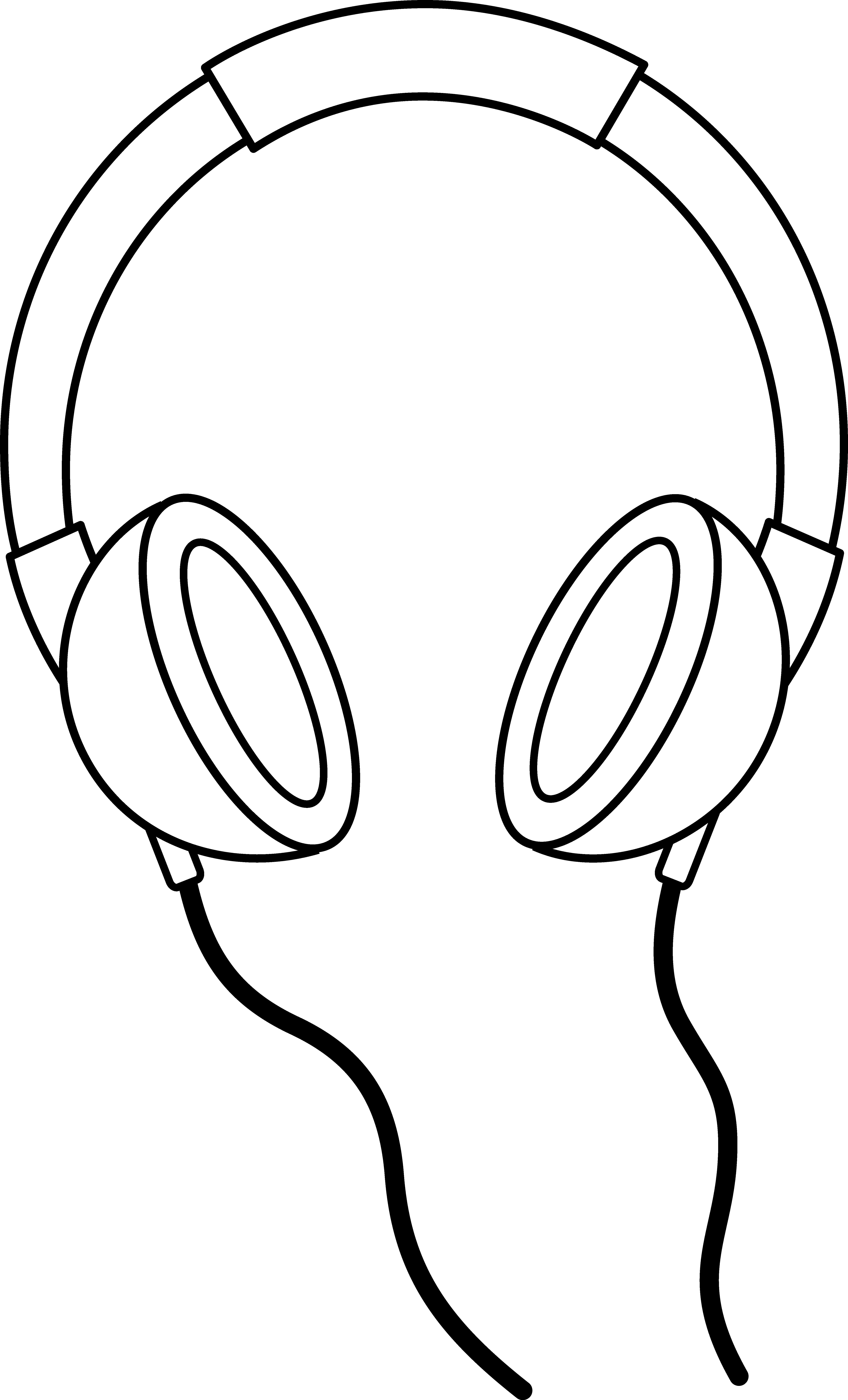 5159x8522 Headphones Line Art
