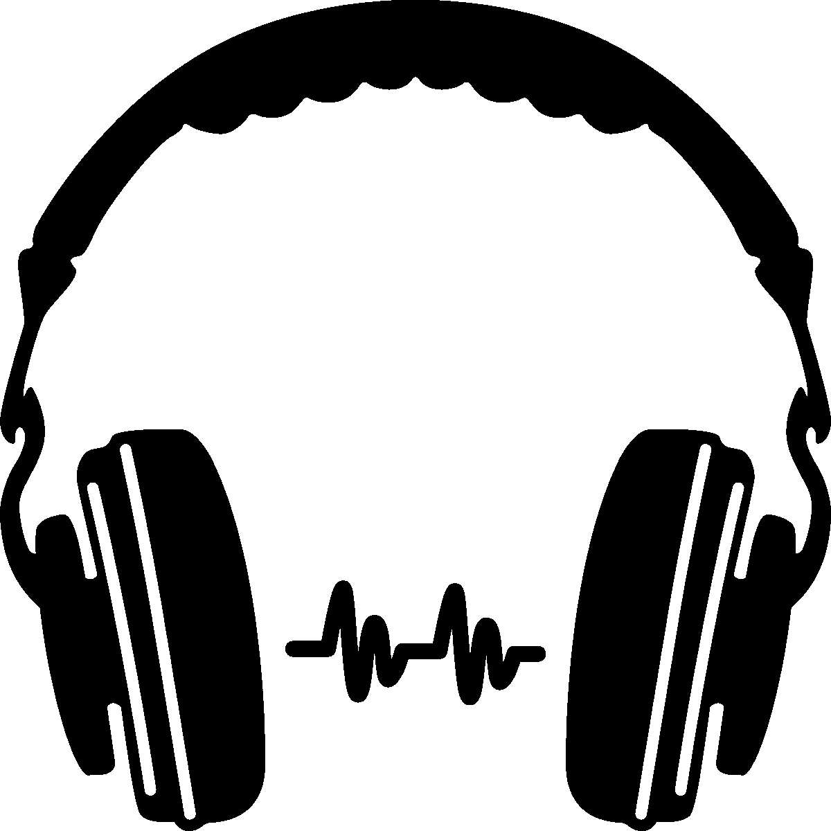 1200x1200 Headphone Silhouette Clip Art Png Png Mart