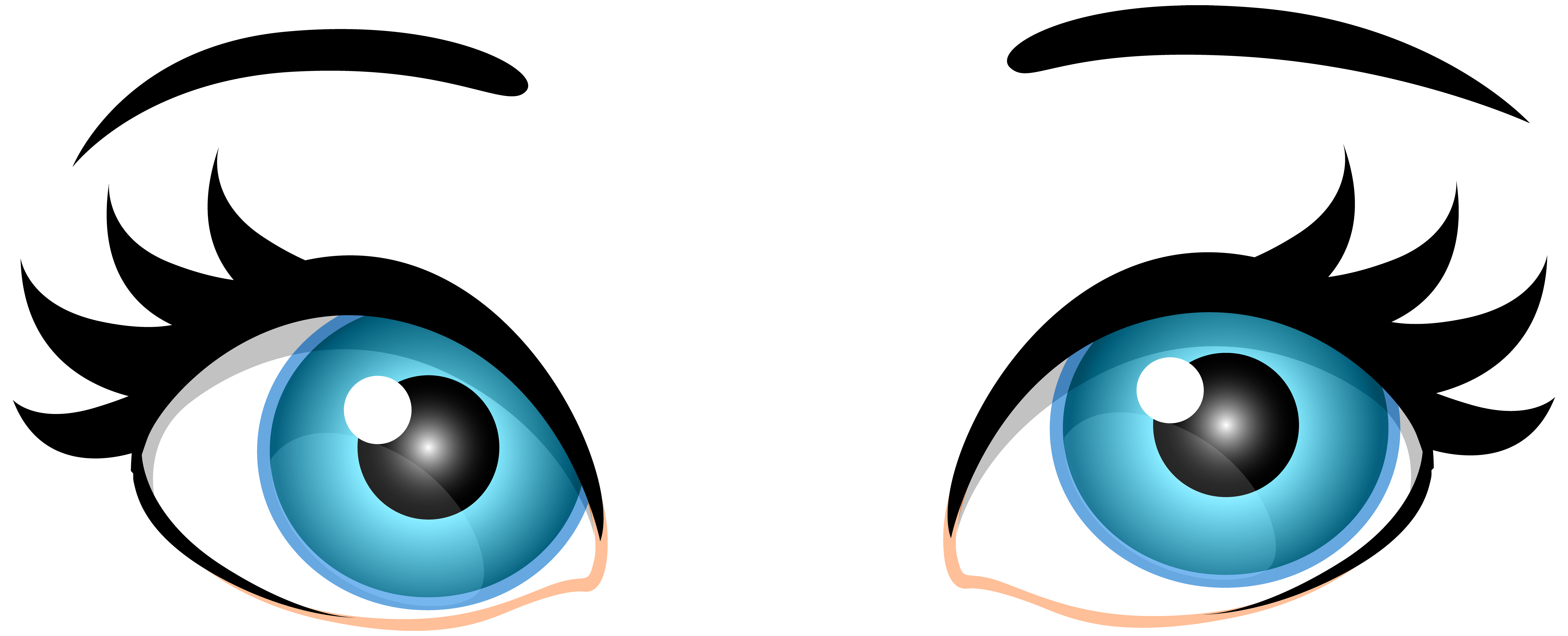 7000x2838 Blue Female Eyes Png Clip Art