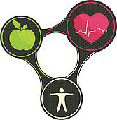 167x170 Clip Art Of Health Triangle K15238759