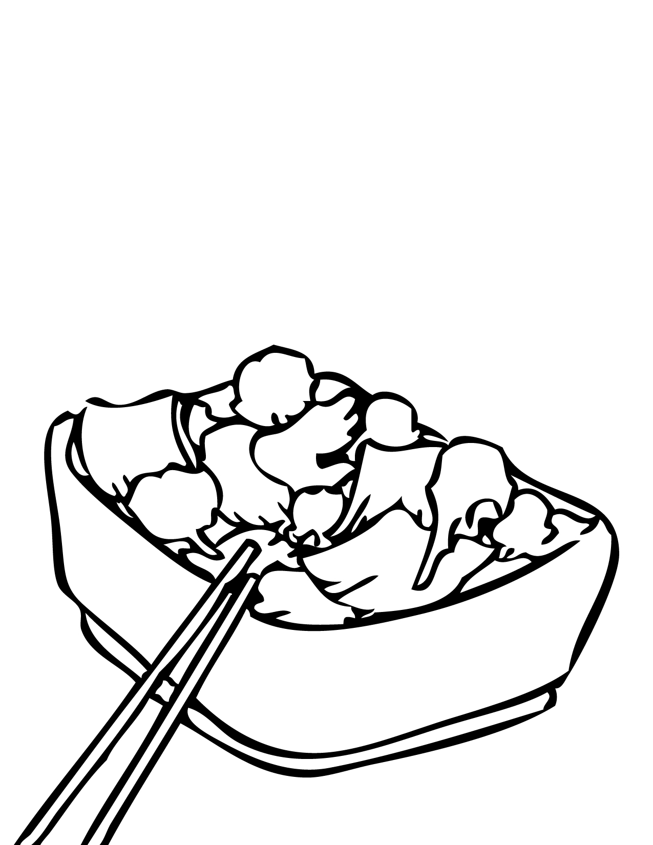 Healthy Food Clipart Black And White | Free download on ...