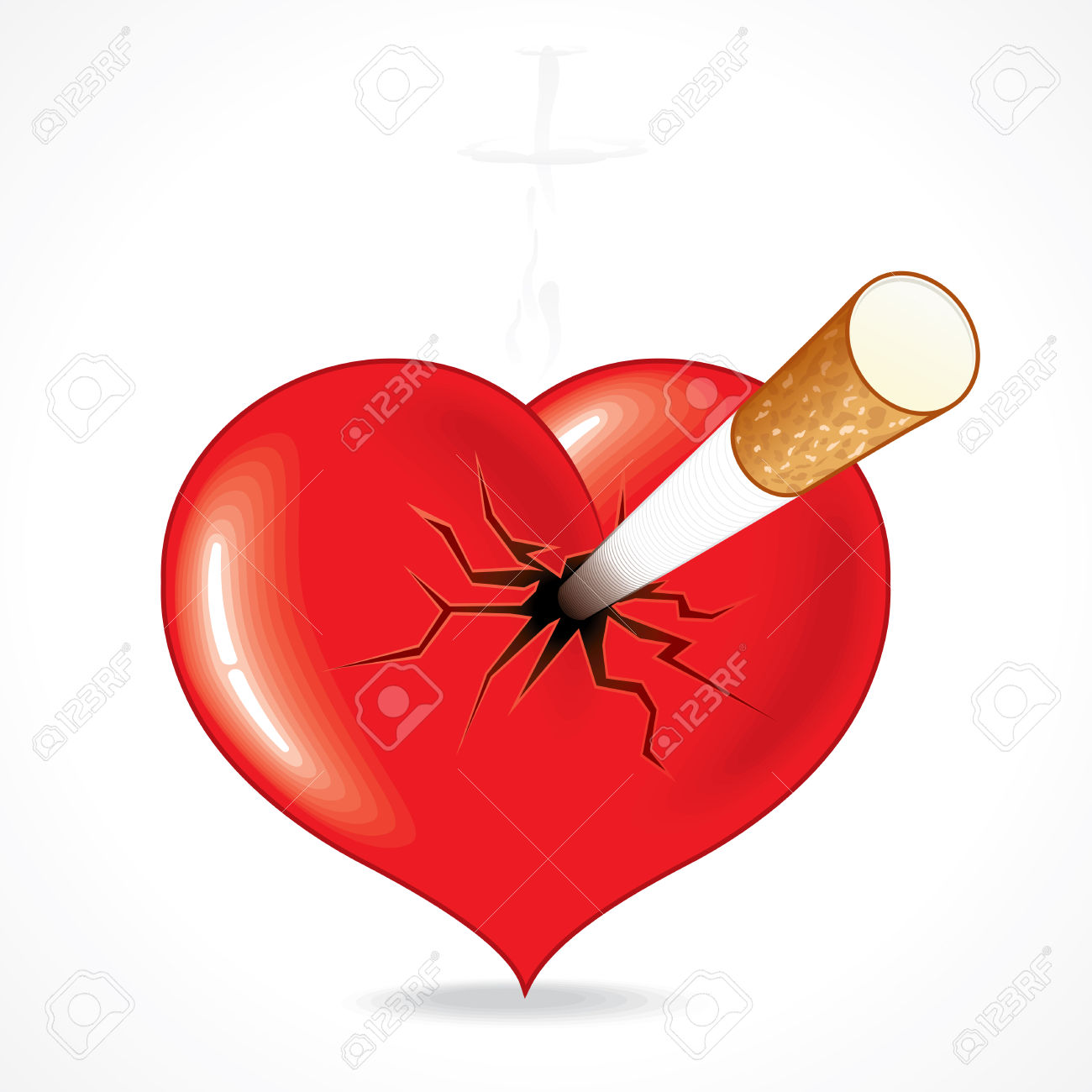 1300x1300 Cigarette Clipart Heart
