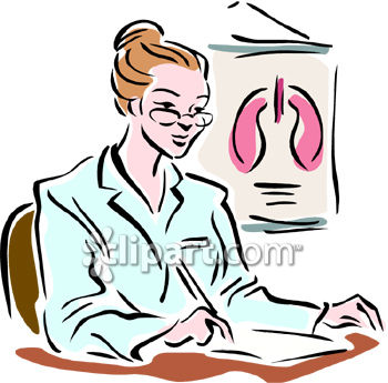 350x345 Clipart Picture Of A Female Heart And Lung Doctor