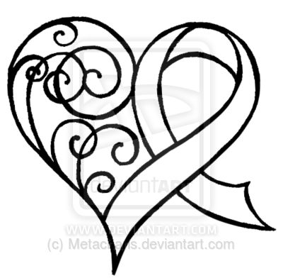 400x392 cancer ribbon heart clipart