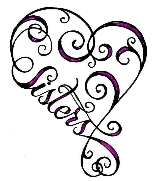 652x766 Heart Sister Tattoo