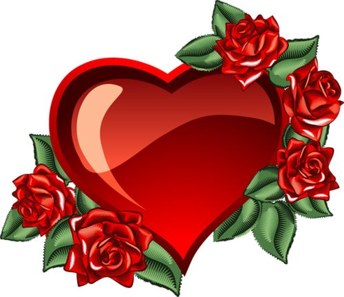 Heart And Rose Clipart
