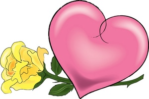 300x200 Free Heart And Rose Clipart Image 0515 0910 2302 1153 Valentine