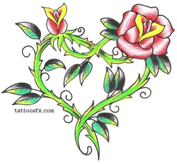 736x681 29 Best Butterfly Heart Rose Tattoo Design Images
