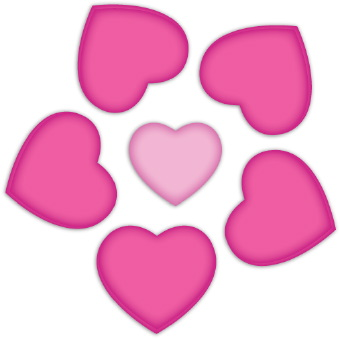 340x339 Pink Rose Clipart Pink Heart
