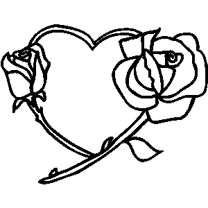 300x300 Valentine Roses And Hearts Clip Art