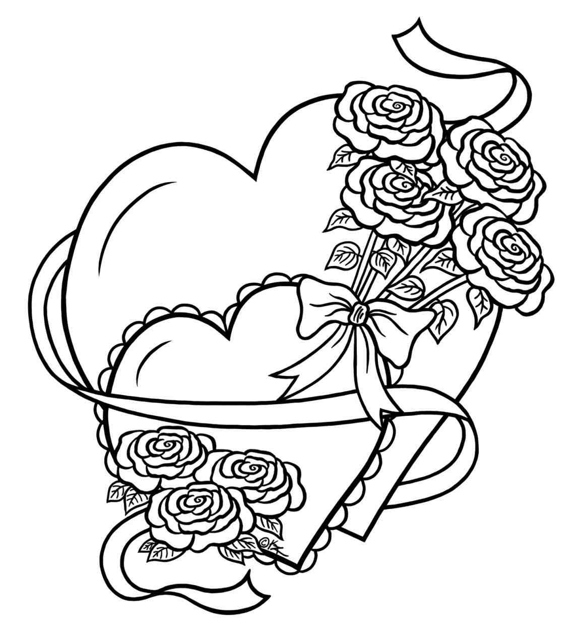1145x1264 heart drawings in pencil with roses