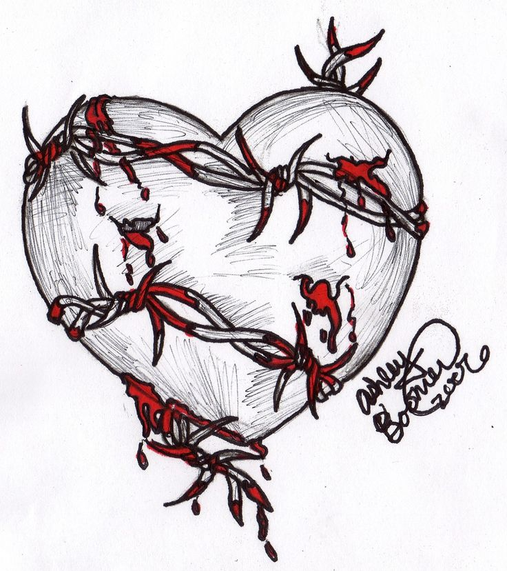 Heart And Rose Drawings In Pencil | Free download on ...
