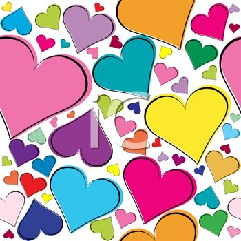 350x350 Clipart Heart Background
