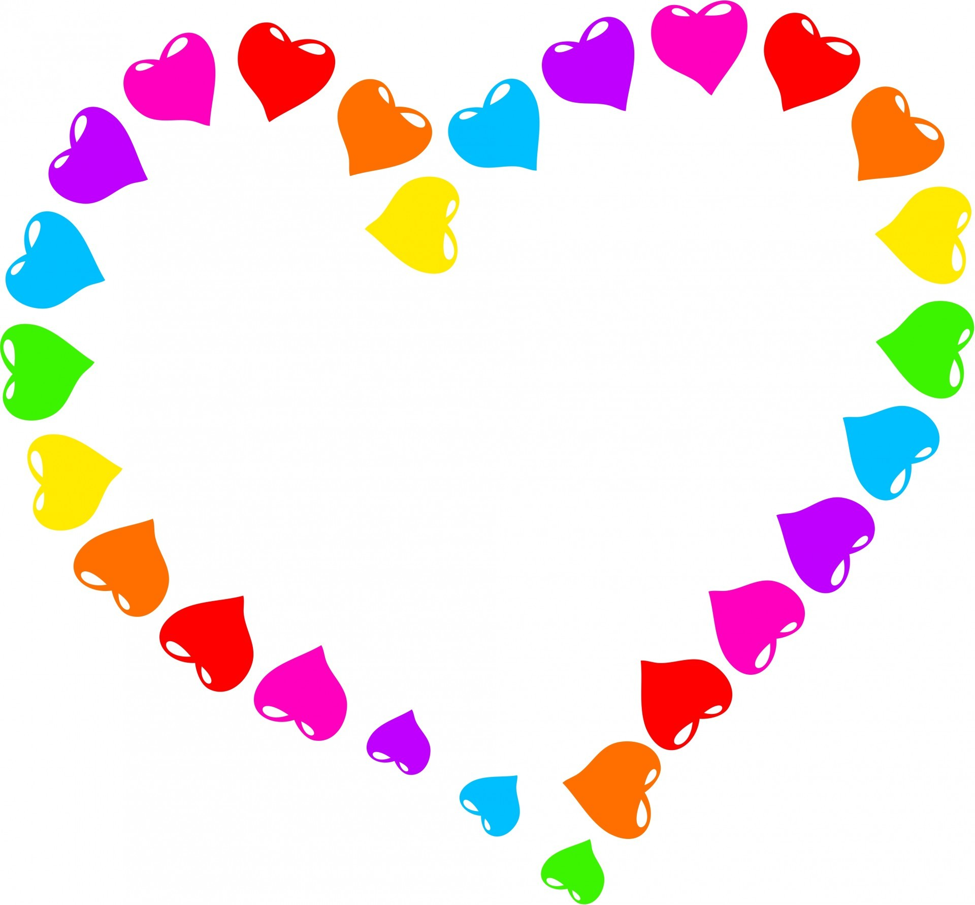 1920x1781 Rainbow Heart Background Images)