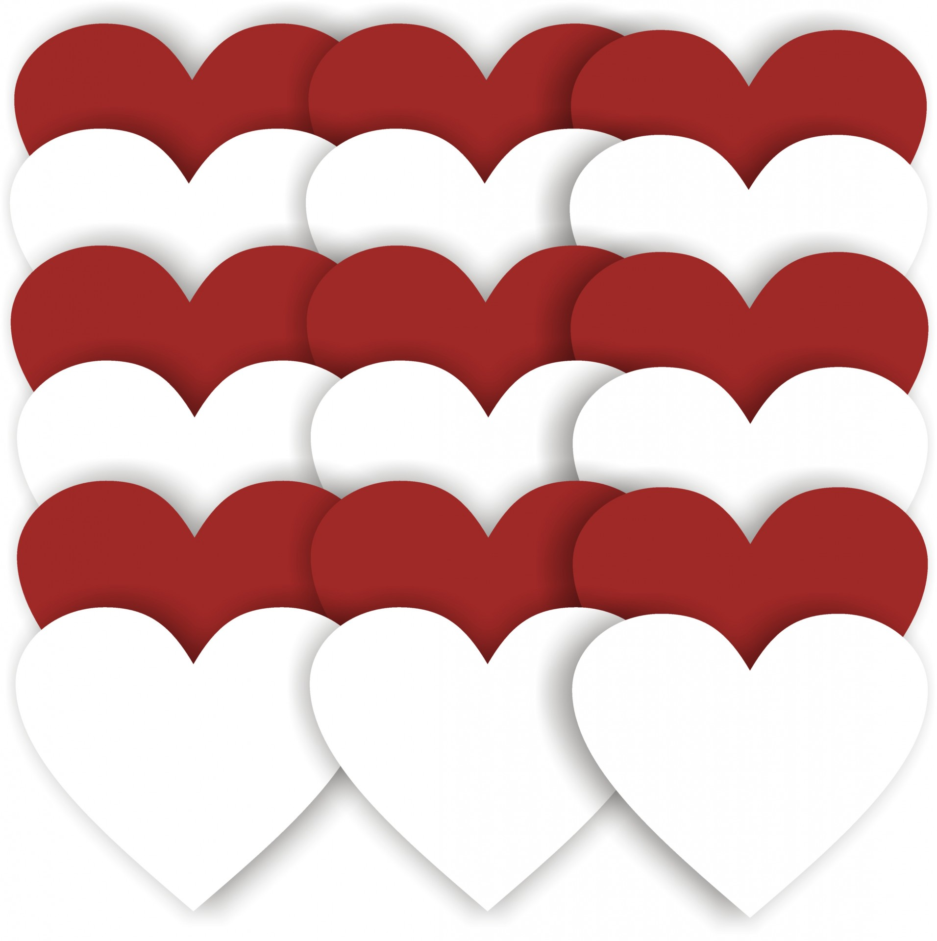 1912x1920 Red And White Heart Background Free Stock Photo