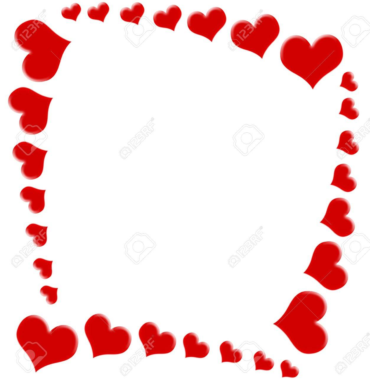 1253x1300 Red Hearts On A White Background, Heart Background Stock Photo