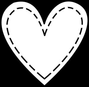 300x294 Double Heart Outline Clip Art