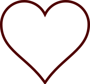 297x276 Heart Clip Art Black And White