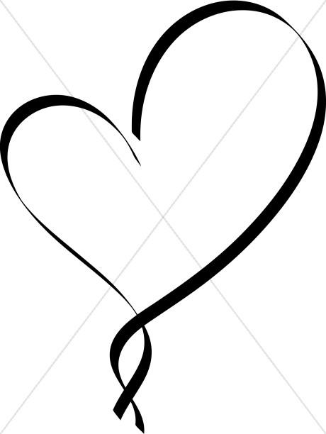 460x612 Hearts Clipart Fancy