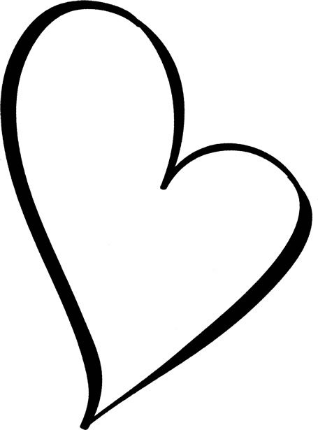 455x615 Small Heart Black And White Clipart