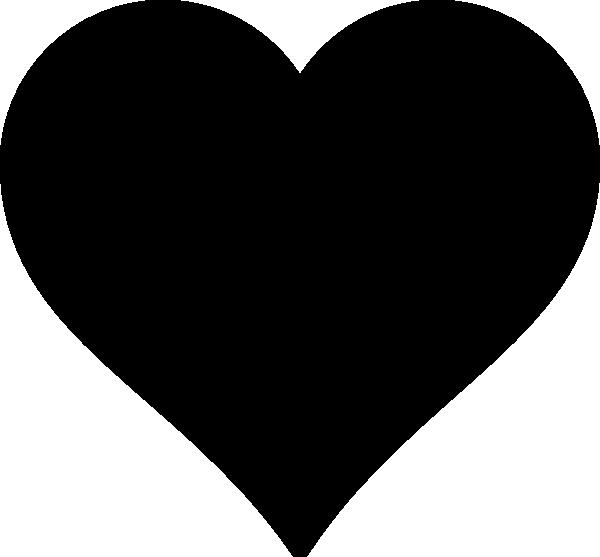 600x557 Black Heart Clip Art