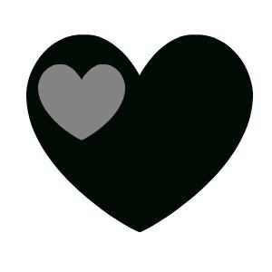 300x300 Black Heart Clip Art 2