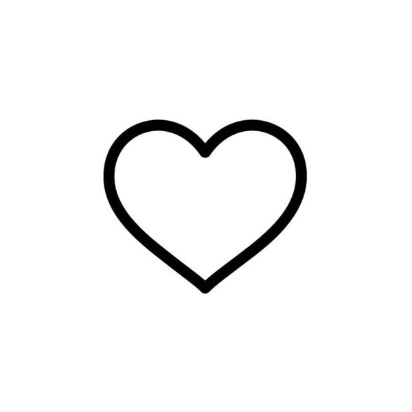 600x600 Black Heart Heart Outline Clipart Black And White Free Clip Art