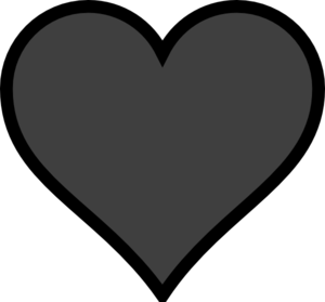 300x279 Grey Heart Black Outline Clip Art