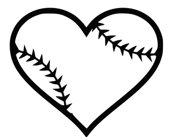 340x270 Heart Baseball Clipart