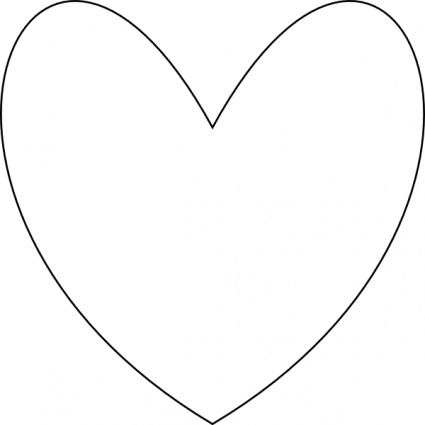 425x425 Heart Outline Vector
