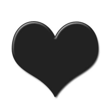 350x350 Heart Black And White Heart Clipart Black And White Hearts Heart 3