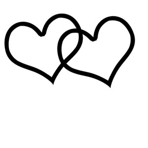 300x300 Heart Clipart Black And White Double Heart Clipart
