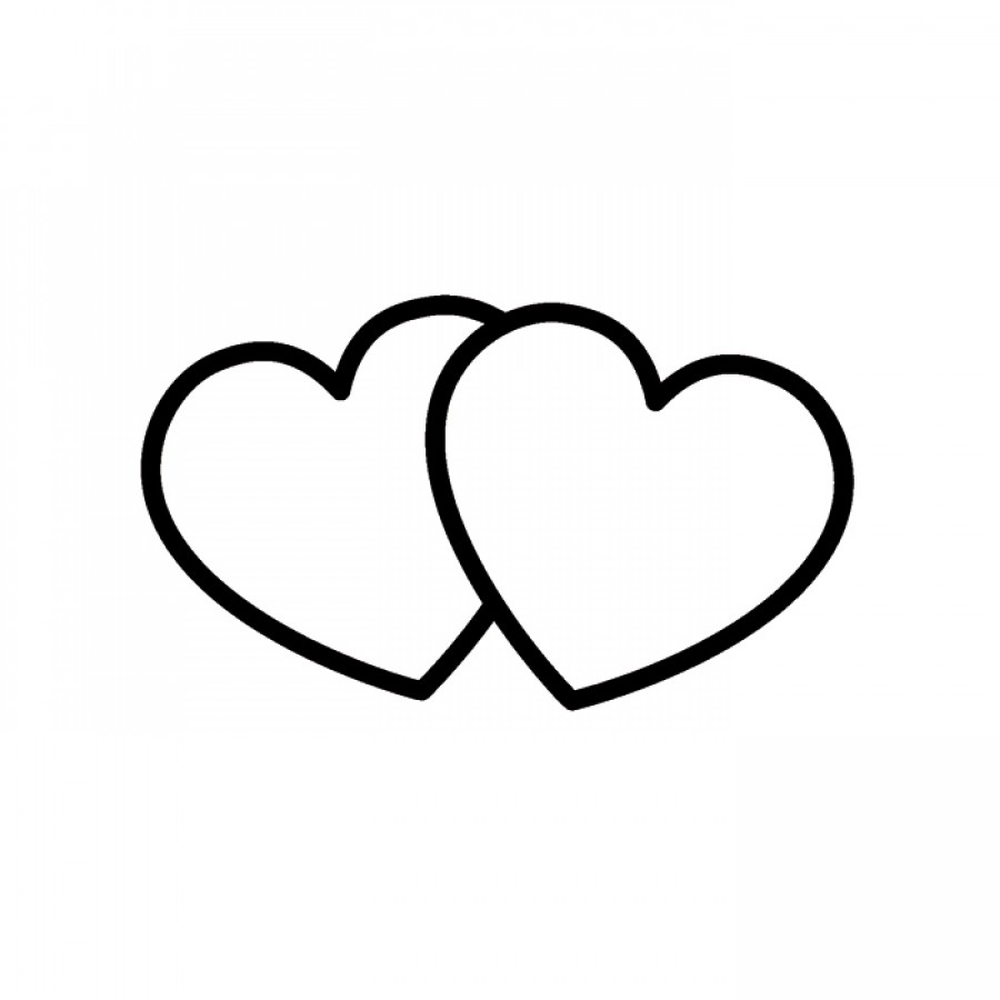 900x900 Silver Clipart Two Heart