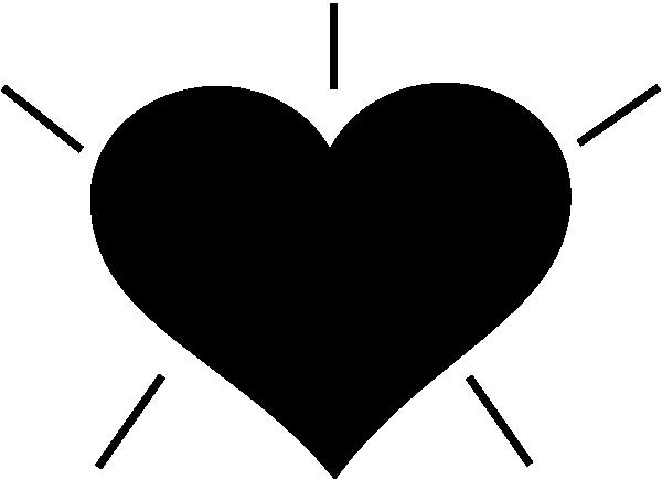 600x434 Black Heart Clip Art