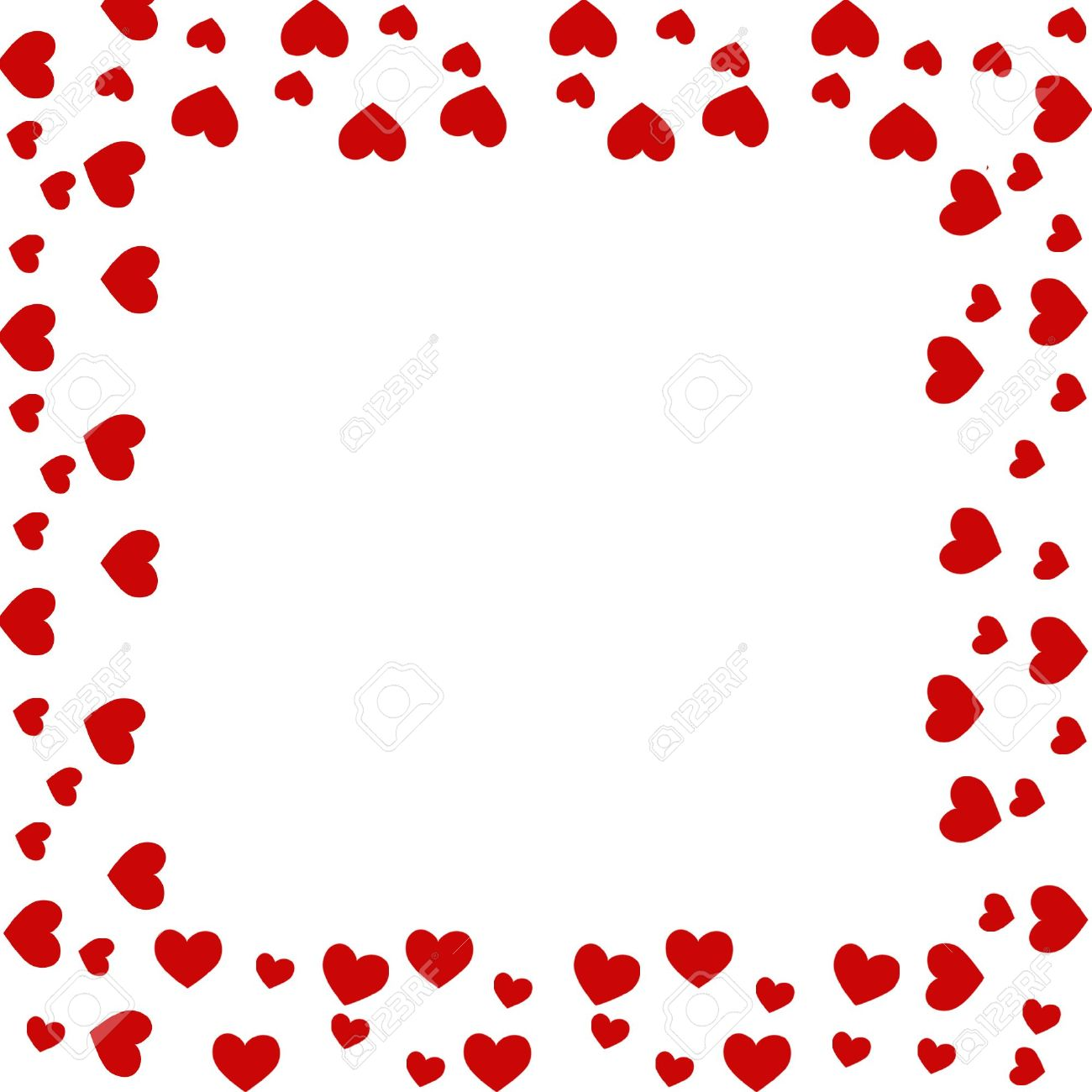 1300x1300 Heart Border Stock Photo, Picture And Royalty Free Image. Image