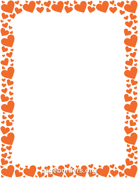 470x608 Orange Heart Border Clip Art, Page Border, and Vector Graphics