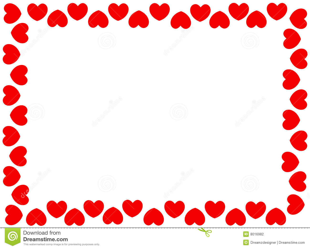 1300x1046 Red Heart Border Clipart