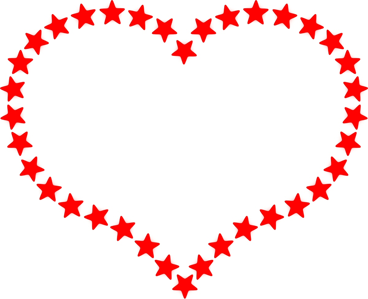 1200x974 free red heart outline border clipart