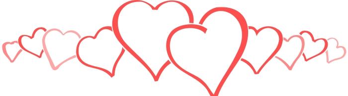 700x194 heart border clipart