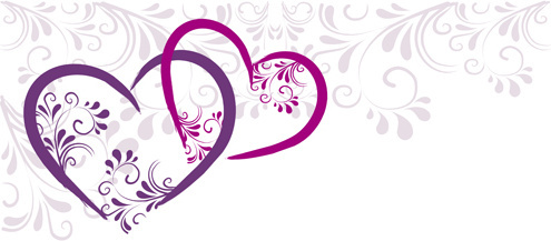 495x217 Elegant heart border designs free vector download (11,560 Free