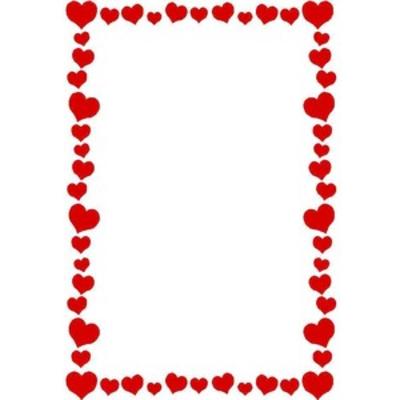 400x400 Heart Border Clip Art